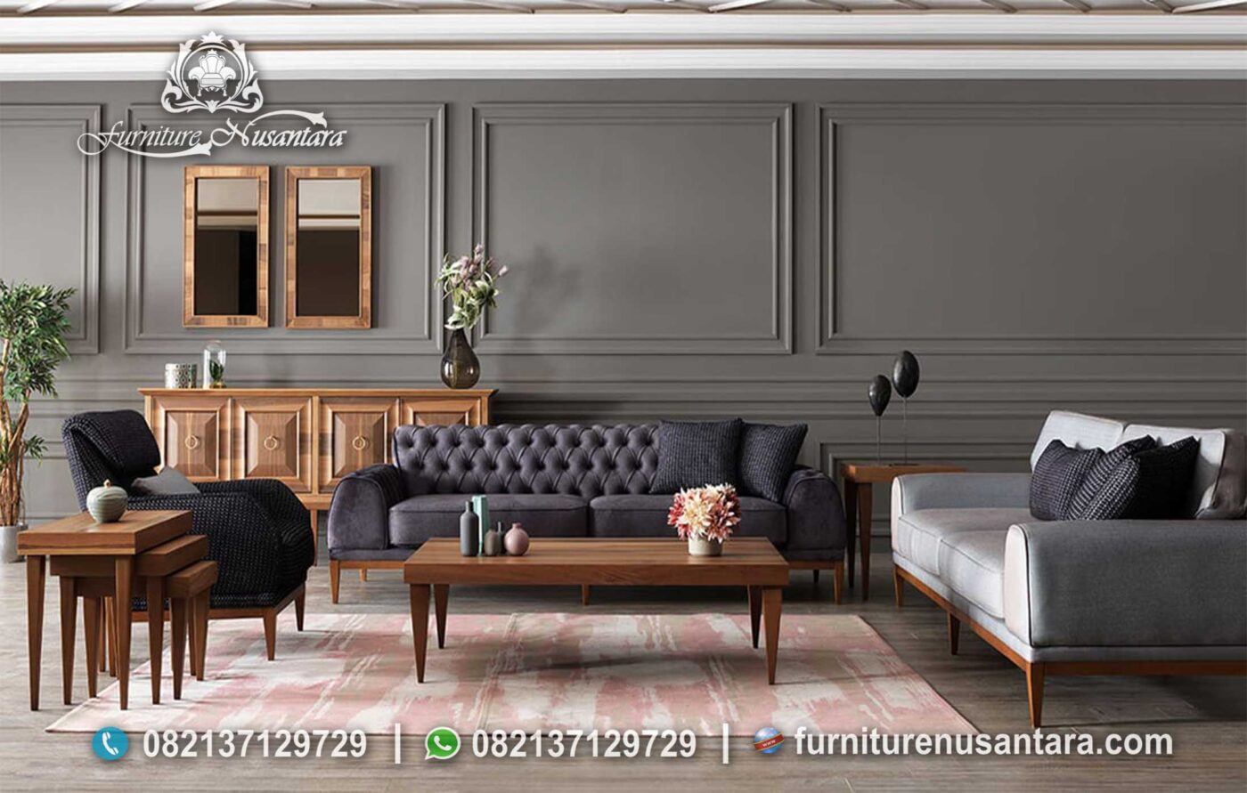 Jual Set Sofa Minimalis Kayu Stylist ST-66, Furniture Nusantara