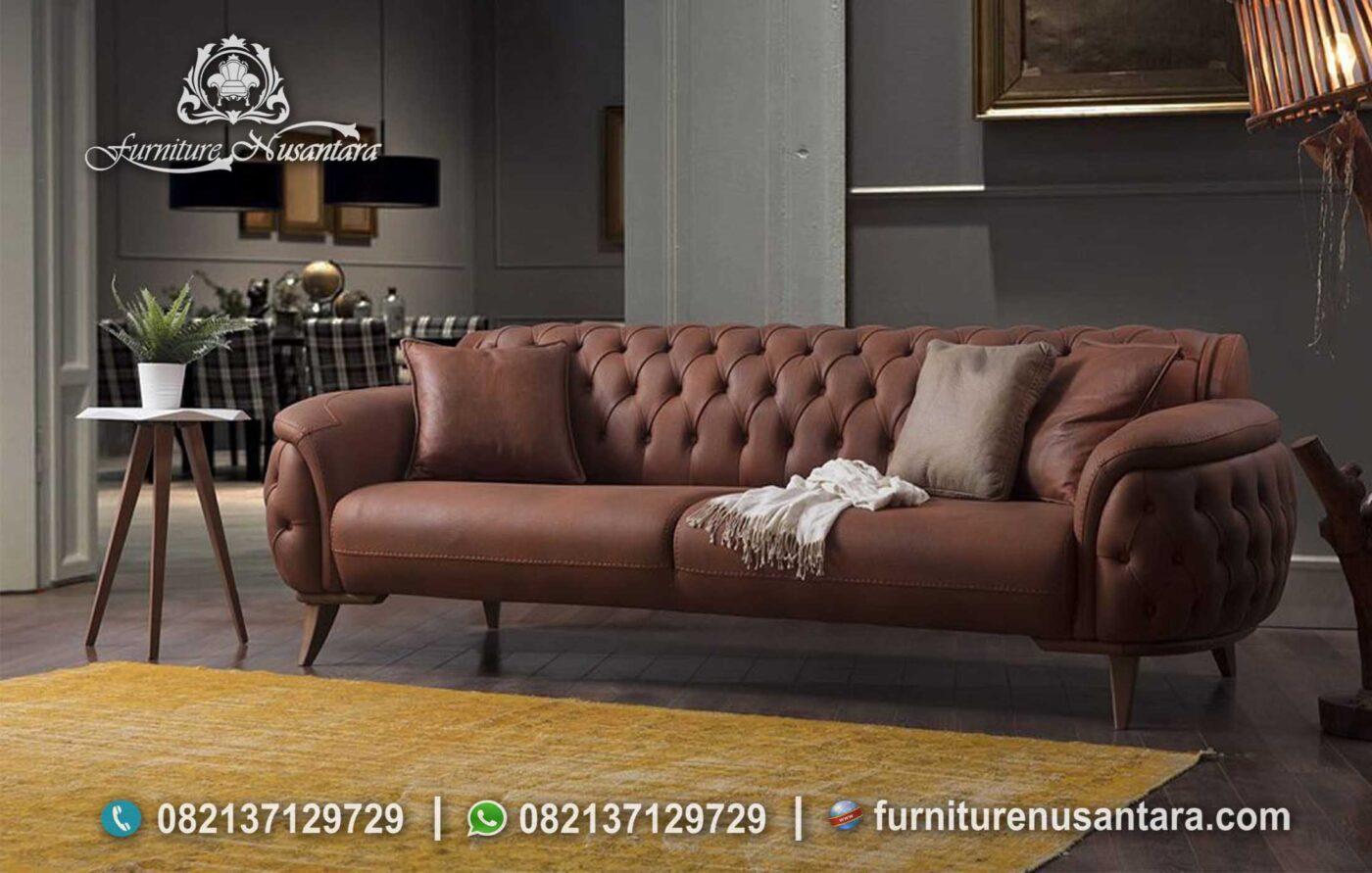Jual Sofa Tamu Warna Coklat Susu ST-67, Furniture Nusantara