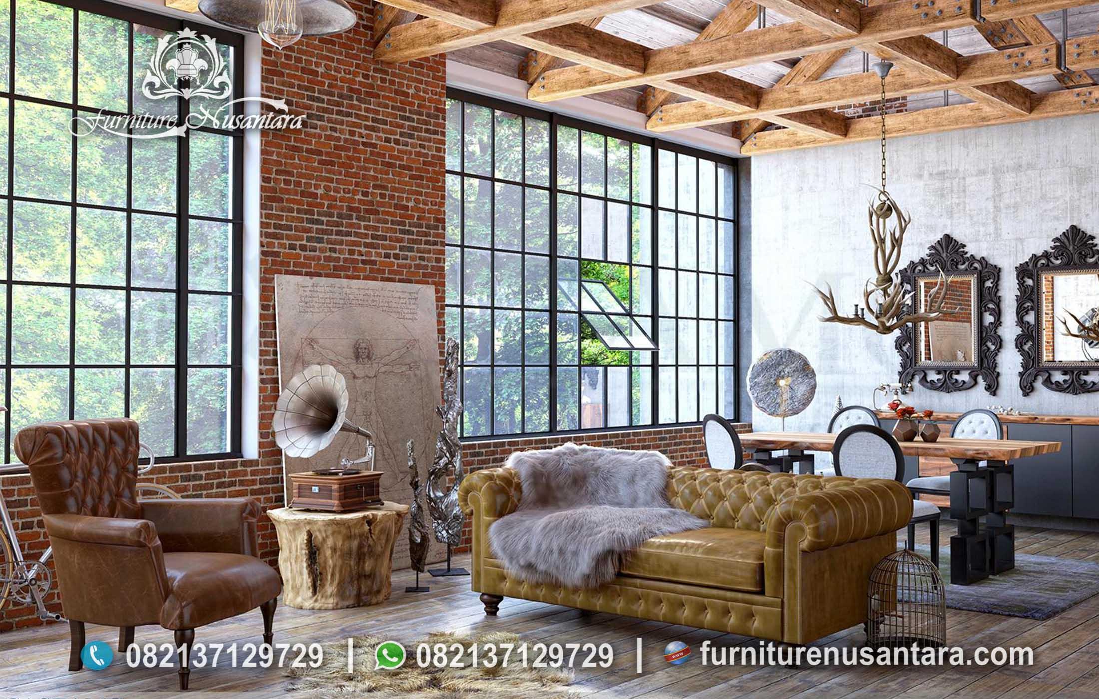 Model Sofa Chester Ruang Keluarga ST-79, Furniture Nusantara