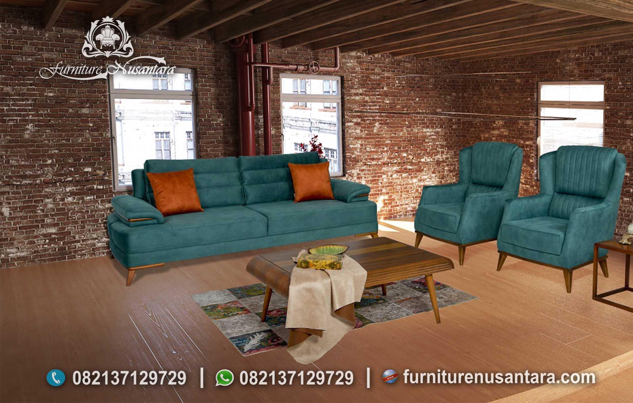 Jual Sofa Tamu Hijau Tosca ST-69, Furniture Nusantara