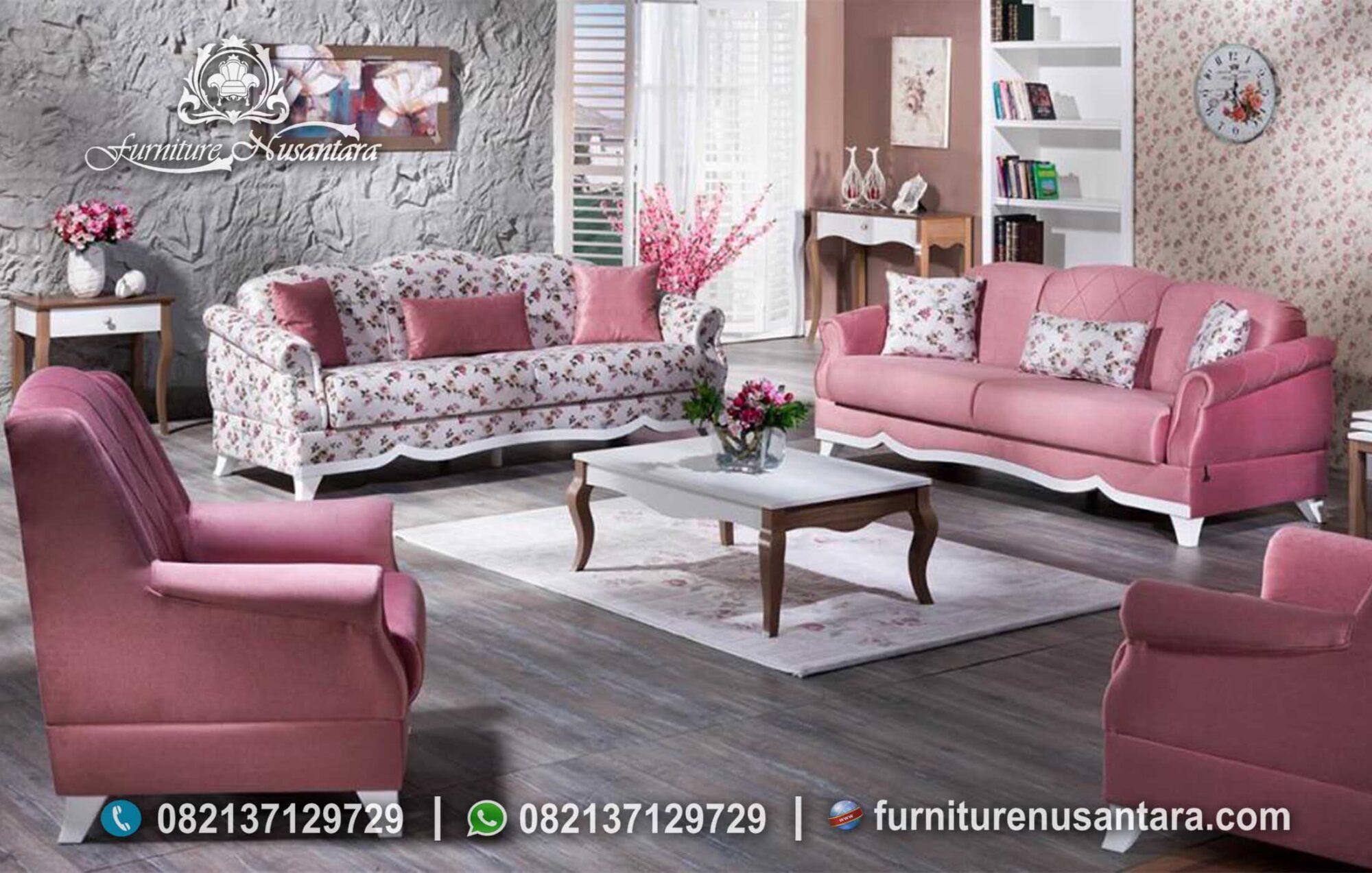 Sofa Minimalis Warna Pink Casual ST-40, Furniture Nusantara
