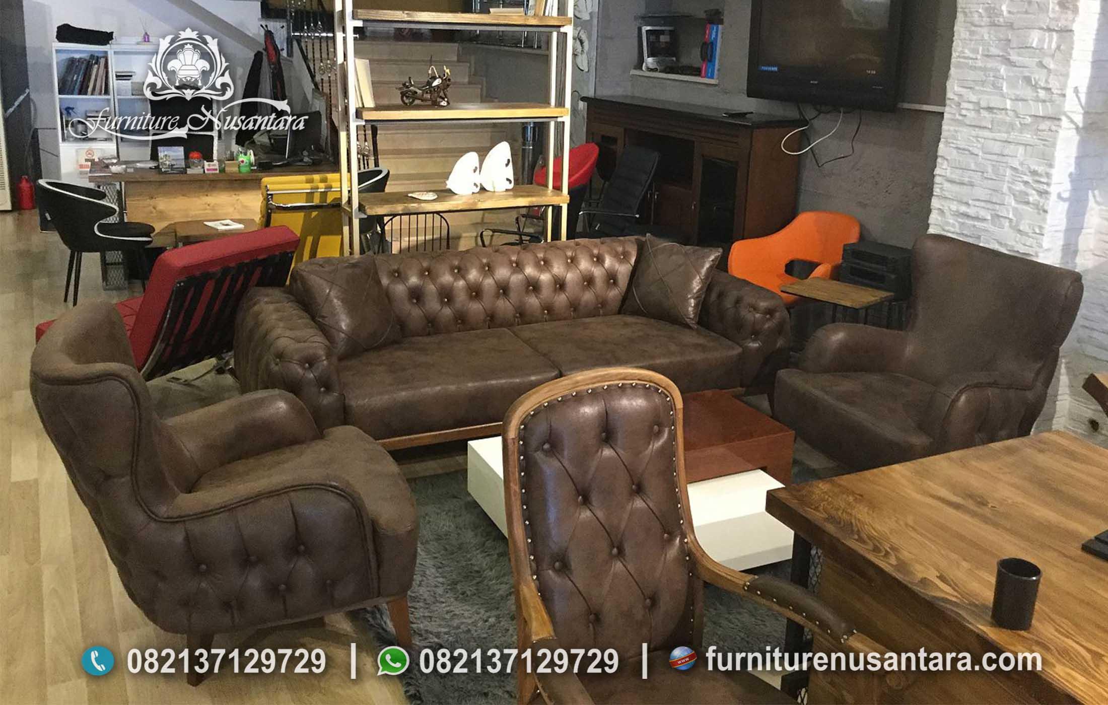 Desain Sofa Retro Elegan Terbaru ST-83, Furniture Nusantara