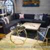 Jual Sofa L Minimalis Rangka Stainless ST-74, Furniture Nusantara