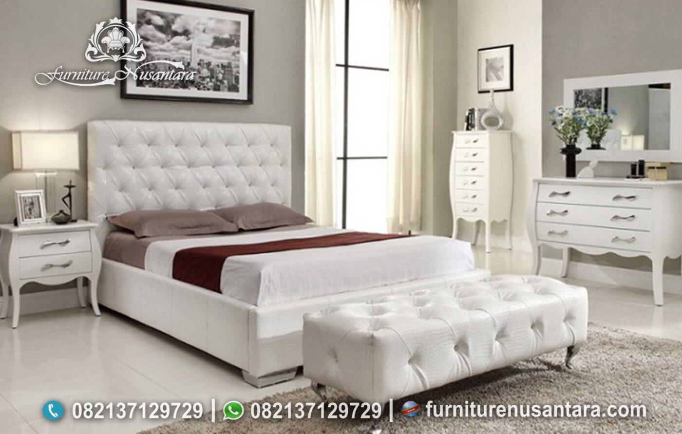 Desain Tempat Tidur Minimalis Italian Leather KS-225, Furniture Nusantara