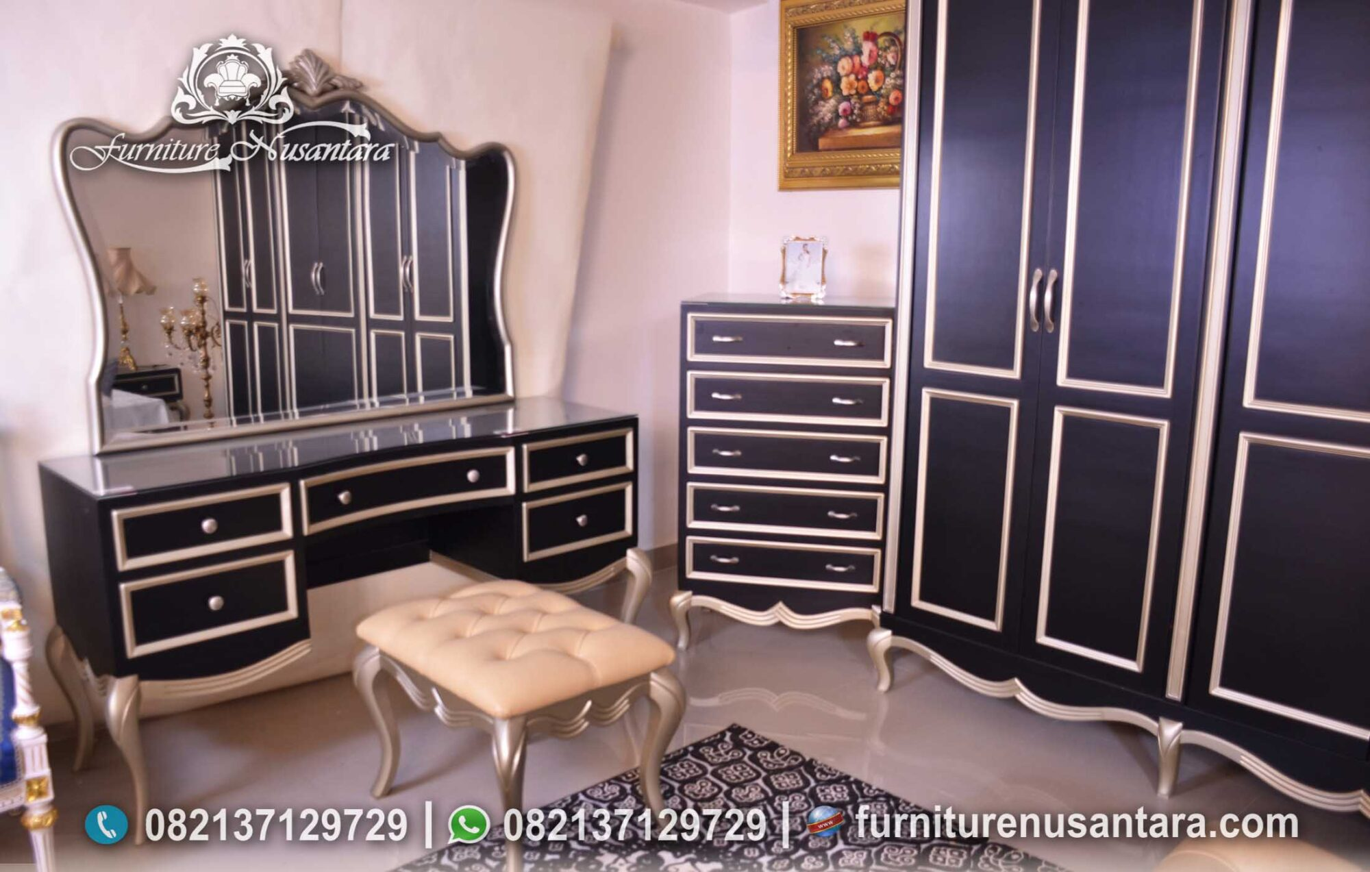 Jual Kamar Set Klasik Ukir Harga Murah KS-226, Furniture Nusantara