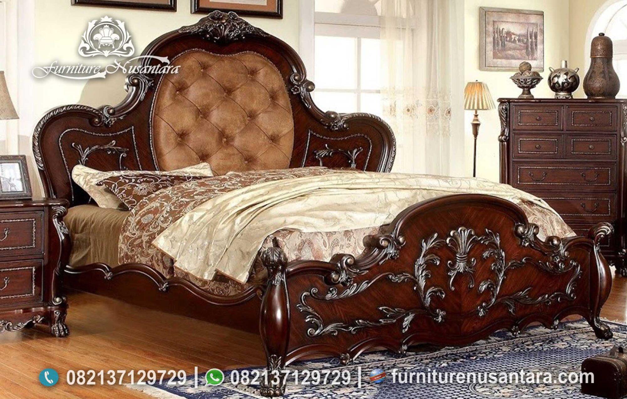 Jual Tempat Tidur Ukir Nusantara KS-228, Furniture Nusantara