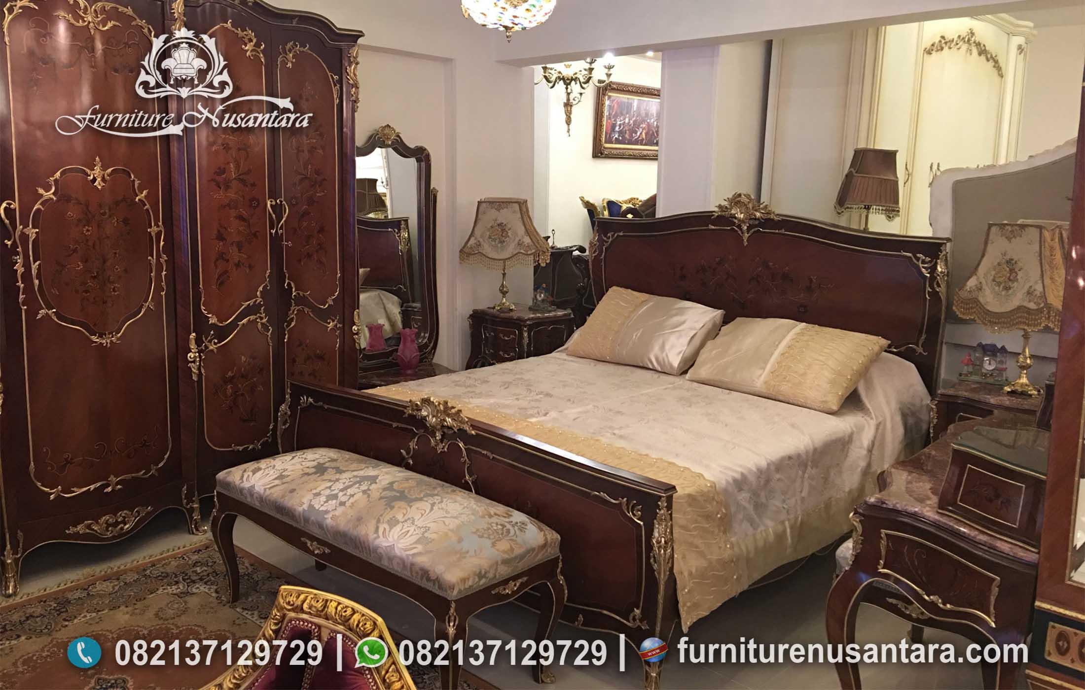 Set Tempat Tidur Antik Sederhana KS-229, Furniture Nusantara