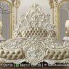 Jual Tempat Tidur Full Ukir Mewah Putih KS-246, Furniture Nusantara