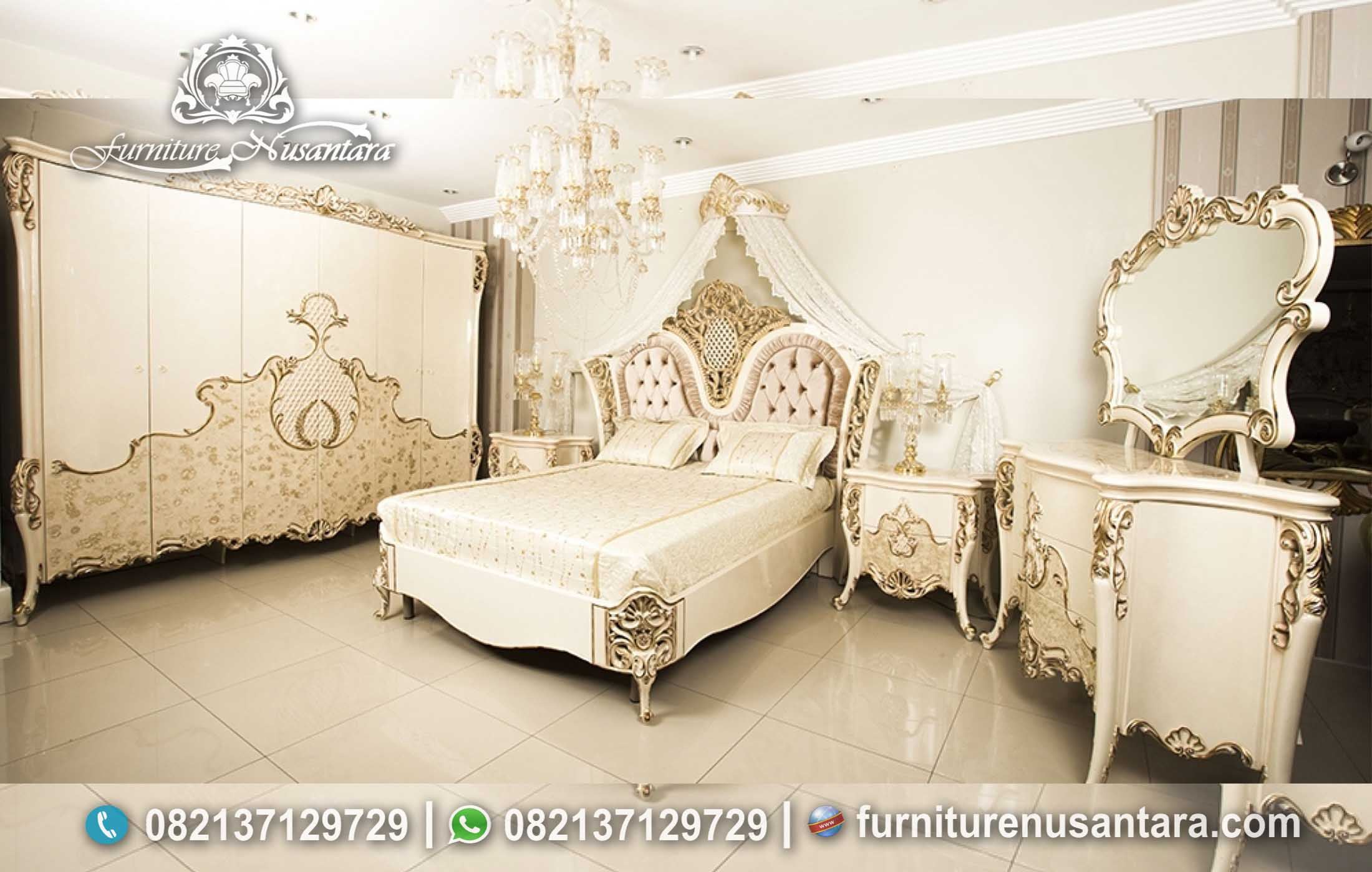 Set Kamar Pengantin Romantis Mewah KS-248, Furniture Nusantara