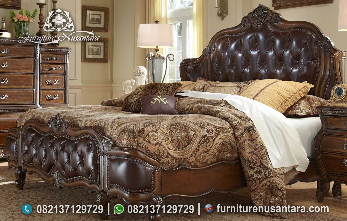 Model Tempat Tidur Antik Kayu Jati KS-252, Furniture Nusantara