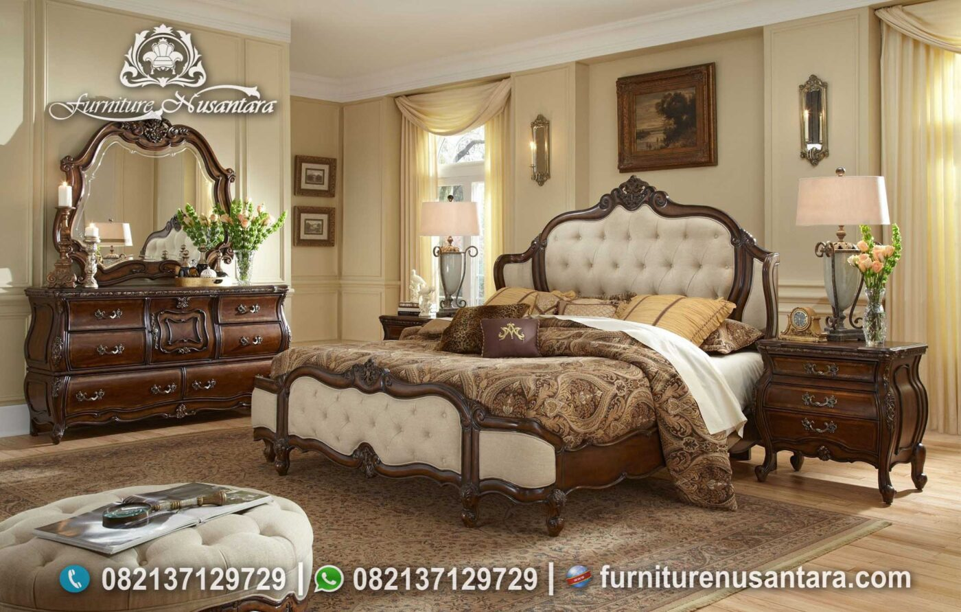 Model Kamar Tidur Kayu Solid Klasik KS-253, Furniture Nusantara