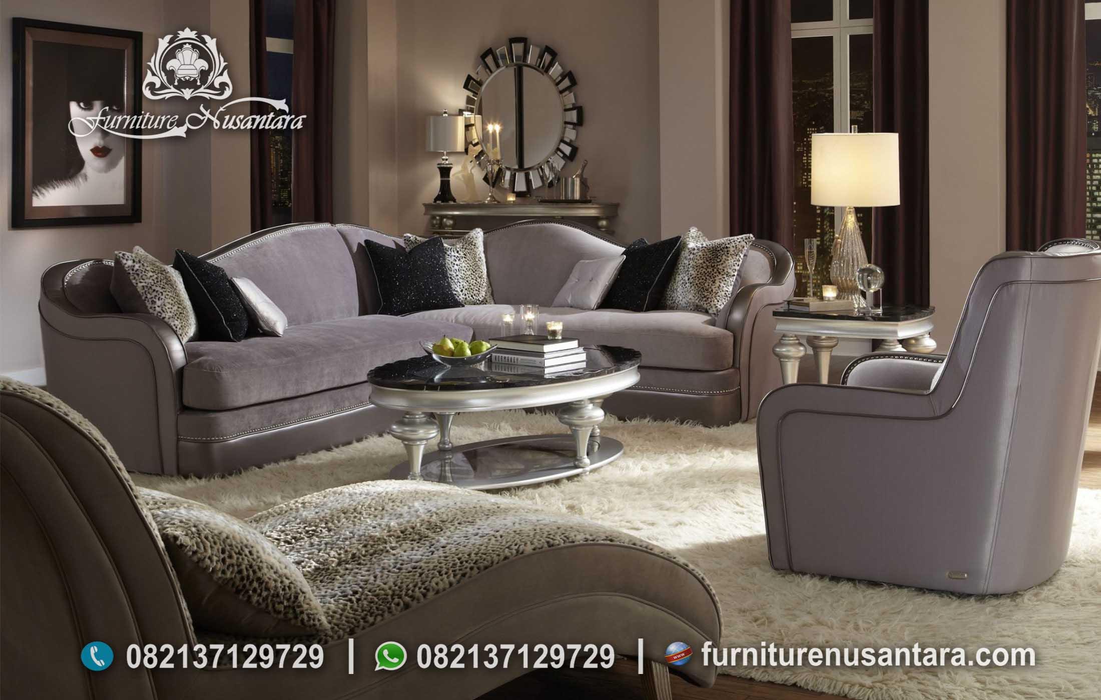 Sofa Sudut Model Eropa Minimalis ST-87, Furniture Nusantara
