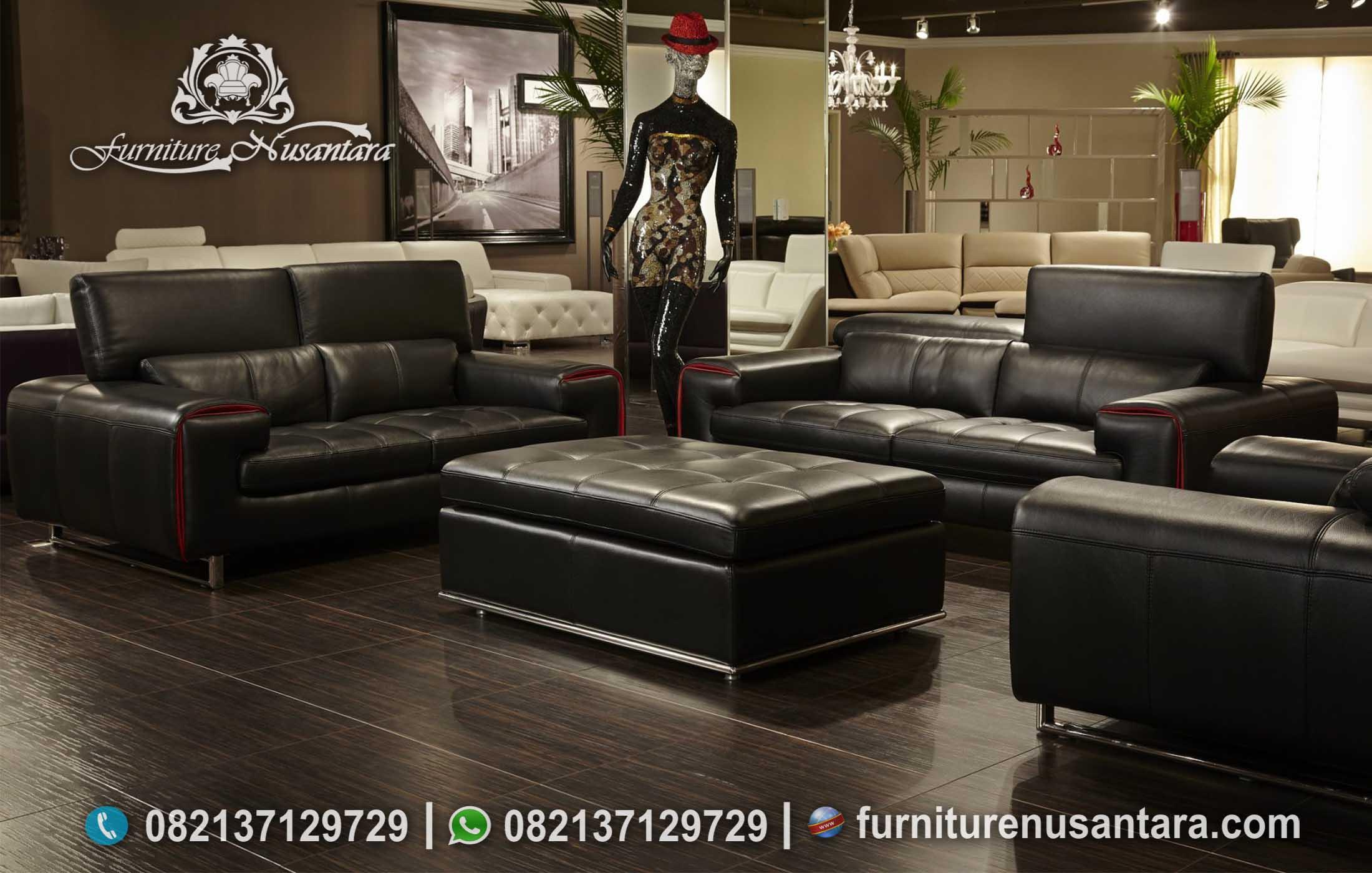 Sofa Minimalis Italian Leather Modern ST-92, Furniture Nusantara