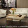 Sofa Tamu Minimalis Simple Warna Putih ST-93, Furniture Nusantara