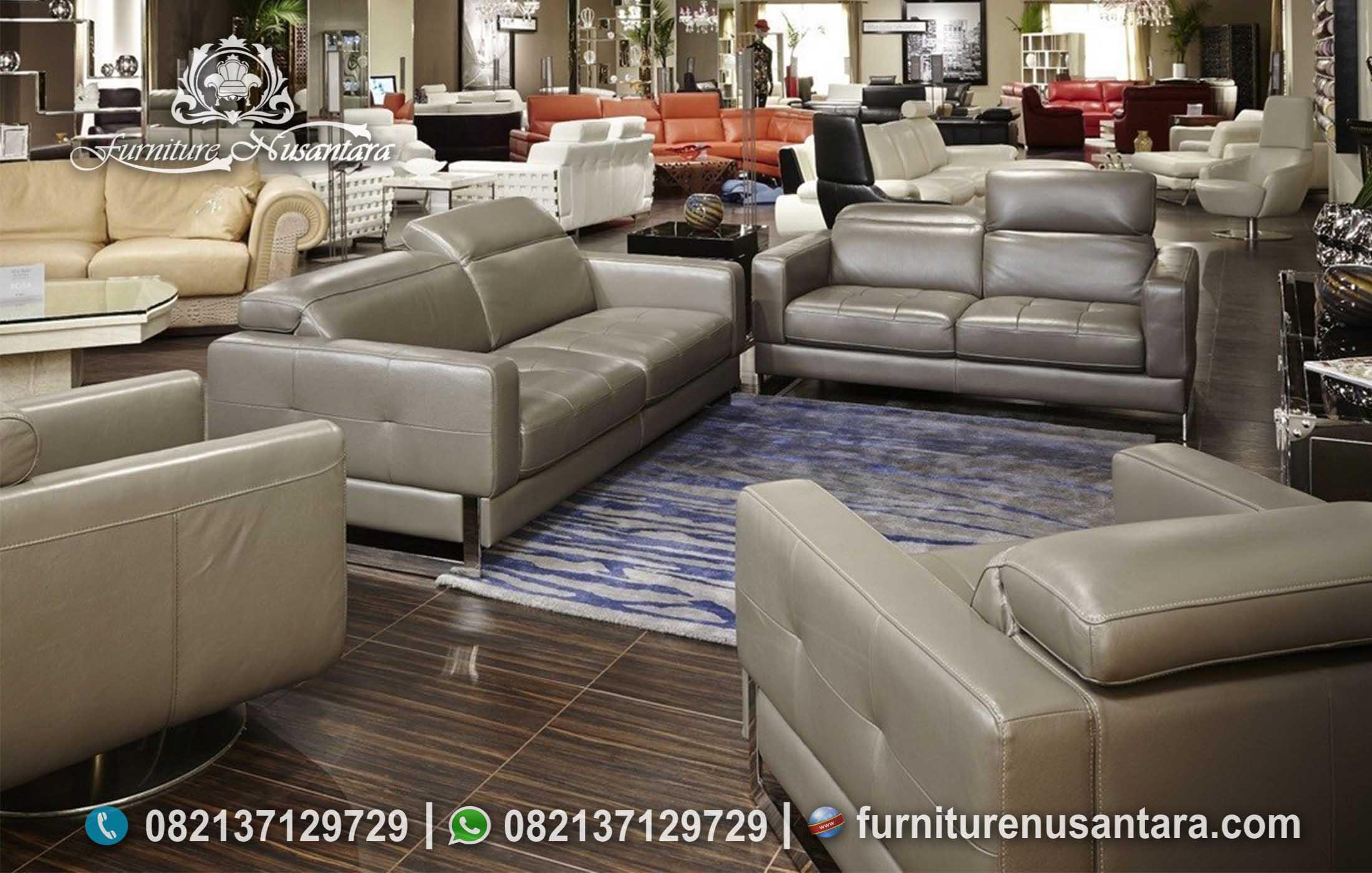 Sofa Bed Minimalis Italian Leather ST-94, Furniture Nusantara