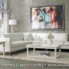 Sofa Sudut Minimalis White Colour Elegan ST-96, Furniture Nusantara