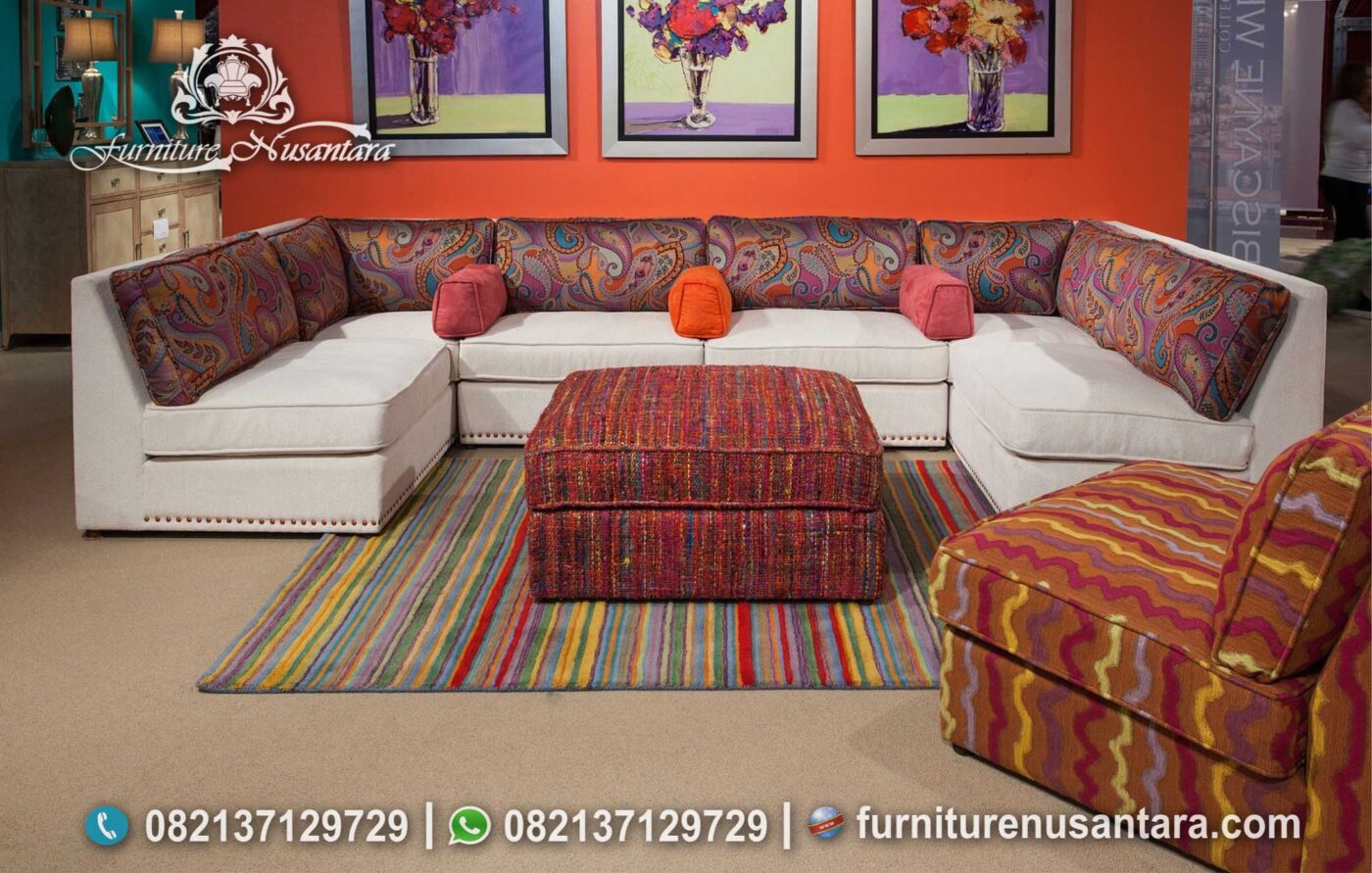 Sofa Tamu Minimalis Letter U ST-97, Furniture Nusantara