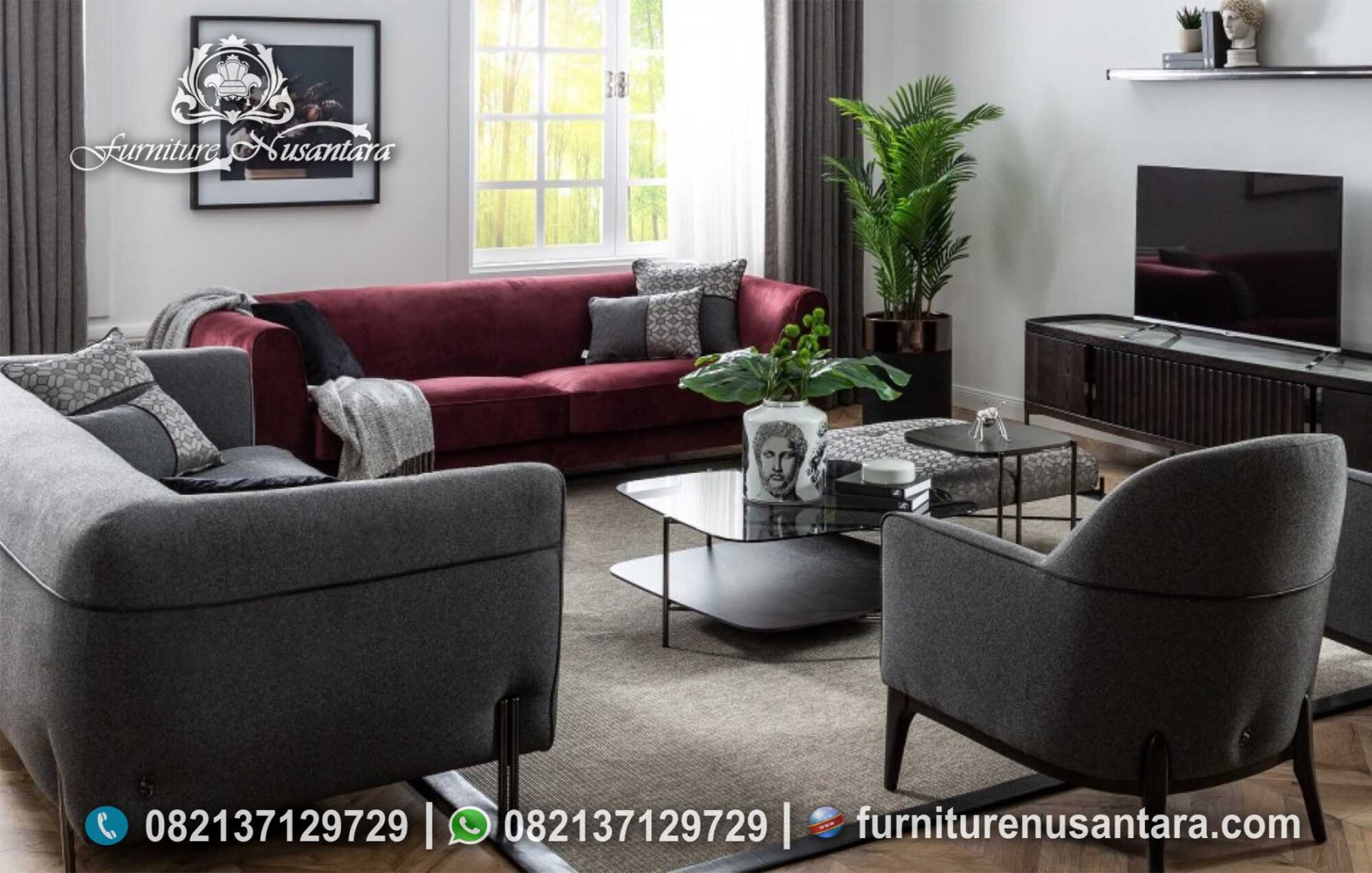 New Desain Sofa Stylist Modern ST-104, Furniture Nusantara
