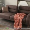 Sofa Bed Minimalis 2 Dudukan Coklat ST-107, Furniture Nusantara