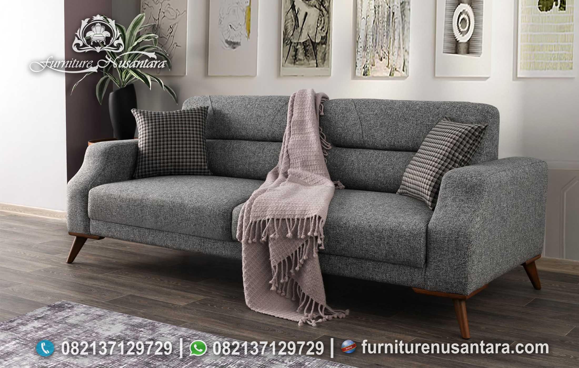 Sofa Santai 2 Dudukan Abu Abu ST-111, Furniture Nusantara