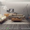 Sofa Minimalis Modern Rangka Kayu Natural ST-113, Furniture Nusantara