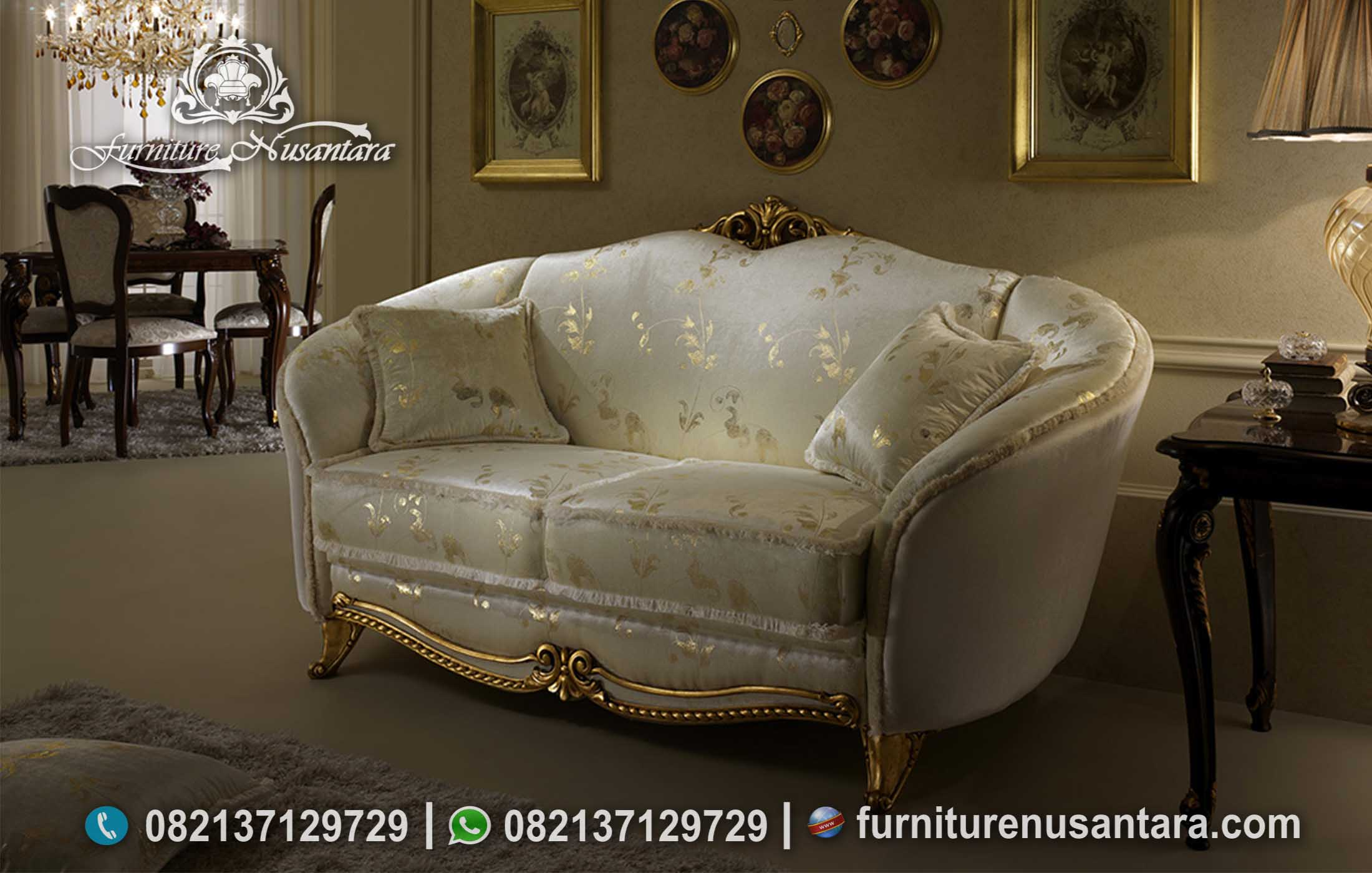 Sofa Santai 2 Dudukan White Gold ST-121