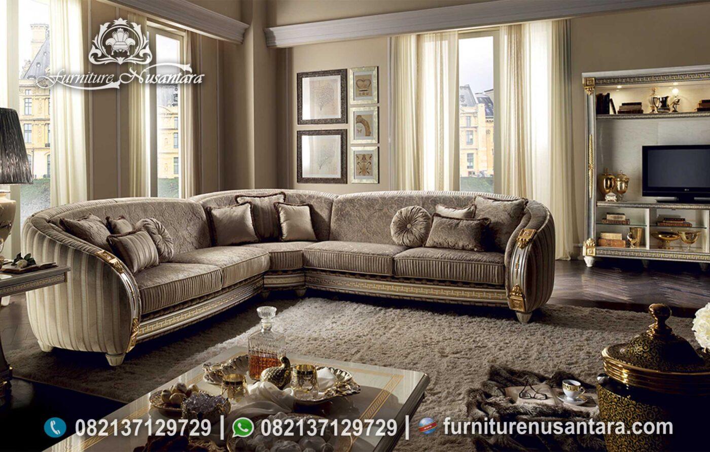 Sofa L Ruang Keluarga Mewah Berkualitas ST-127