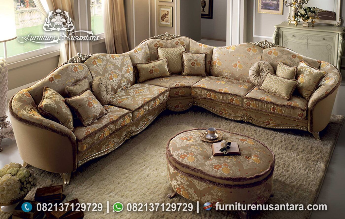 Set Sofa Sudut Klasik Luxury Mewah ST-115
