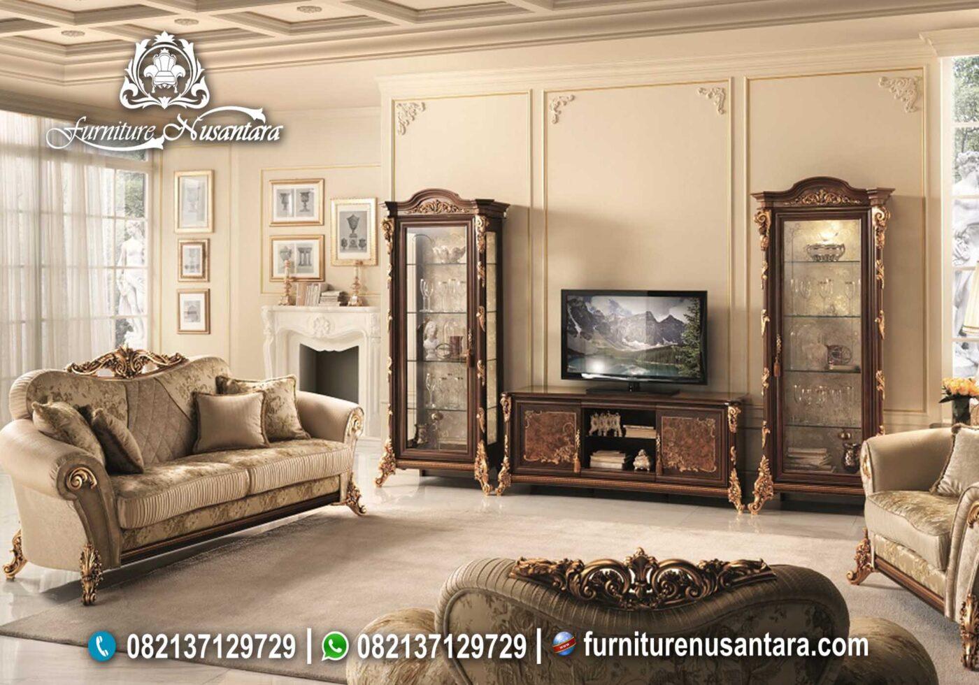 Set Meja TV & lemari Pajangan Simfony BTV-09