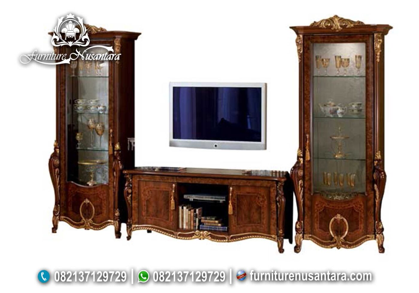 Set Buffet TV Klasik Natural Donatello BTV-17