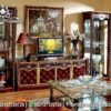 Model Buffet TV Bergaya Prancis Merah BTV-18