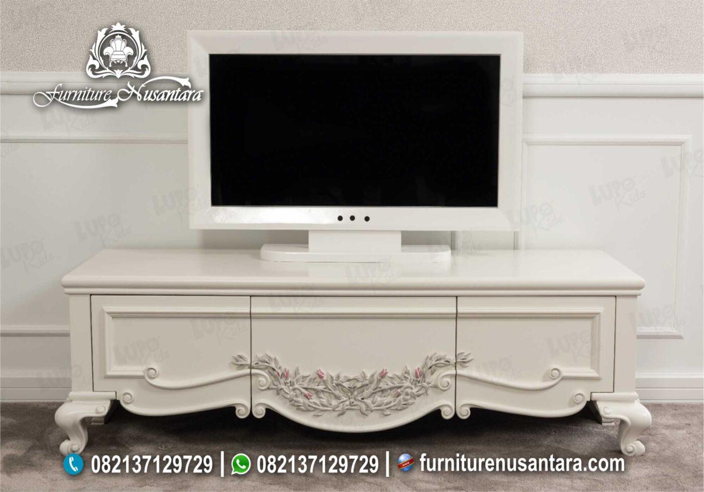 Meja TV Duco Putih Elegan Mewah BTV-20