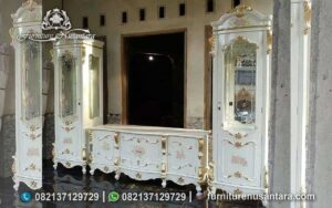 Jual Buffet TV Lukis Murah Warna Putih BTV-26, Furniture Nusantara