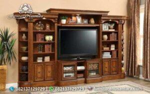 Lemari TV Minimalis Kayu Jati BTV-28, Furniture Nusantara