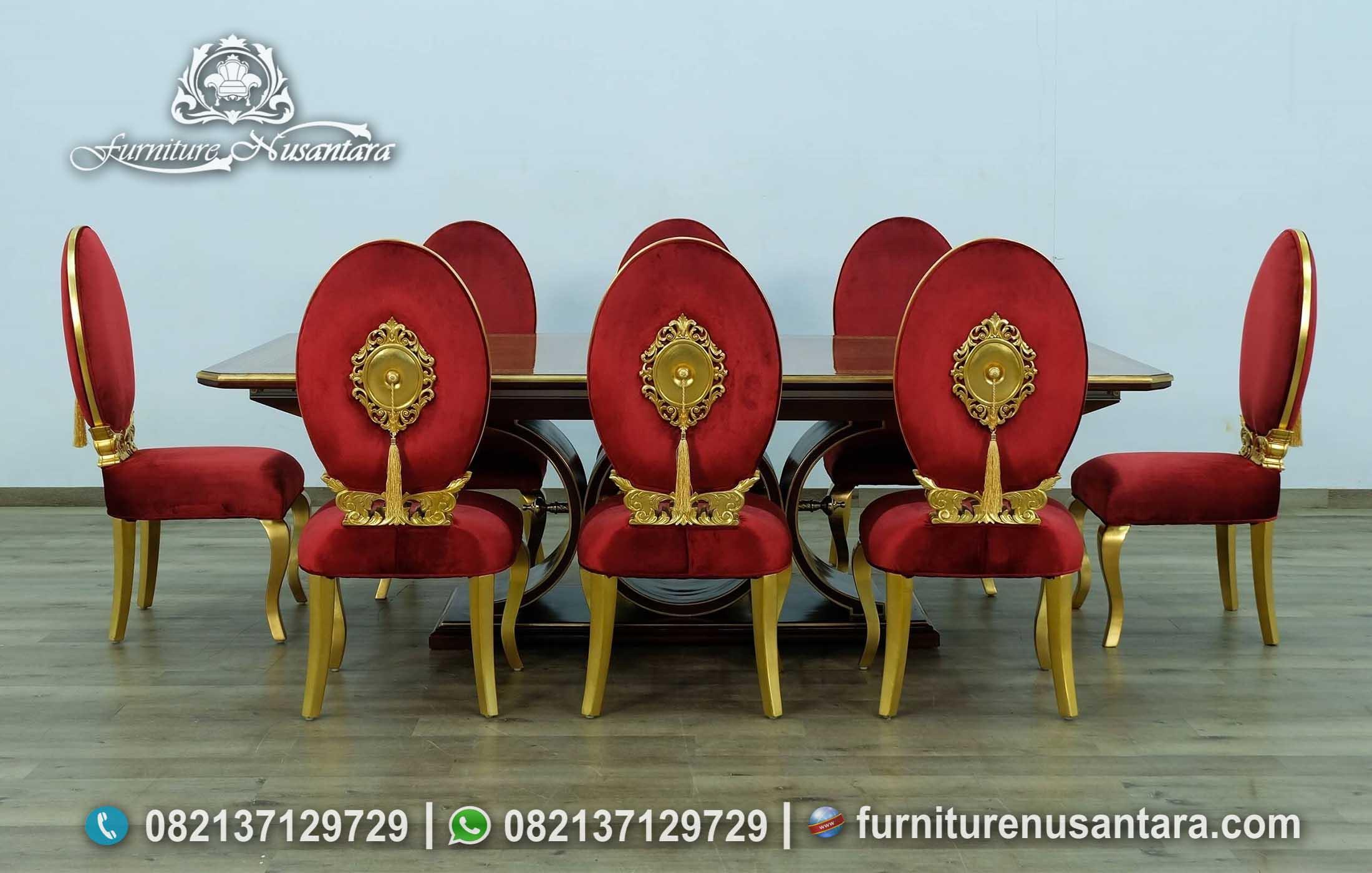 Desain Mewah Meja Makan Ala Cina 8 Kursi MM-121