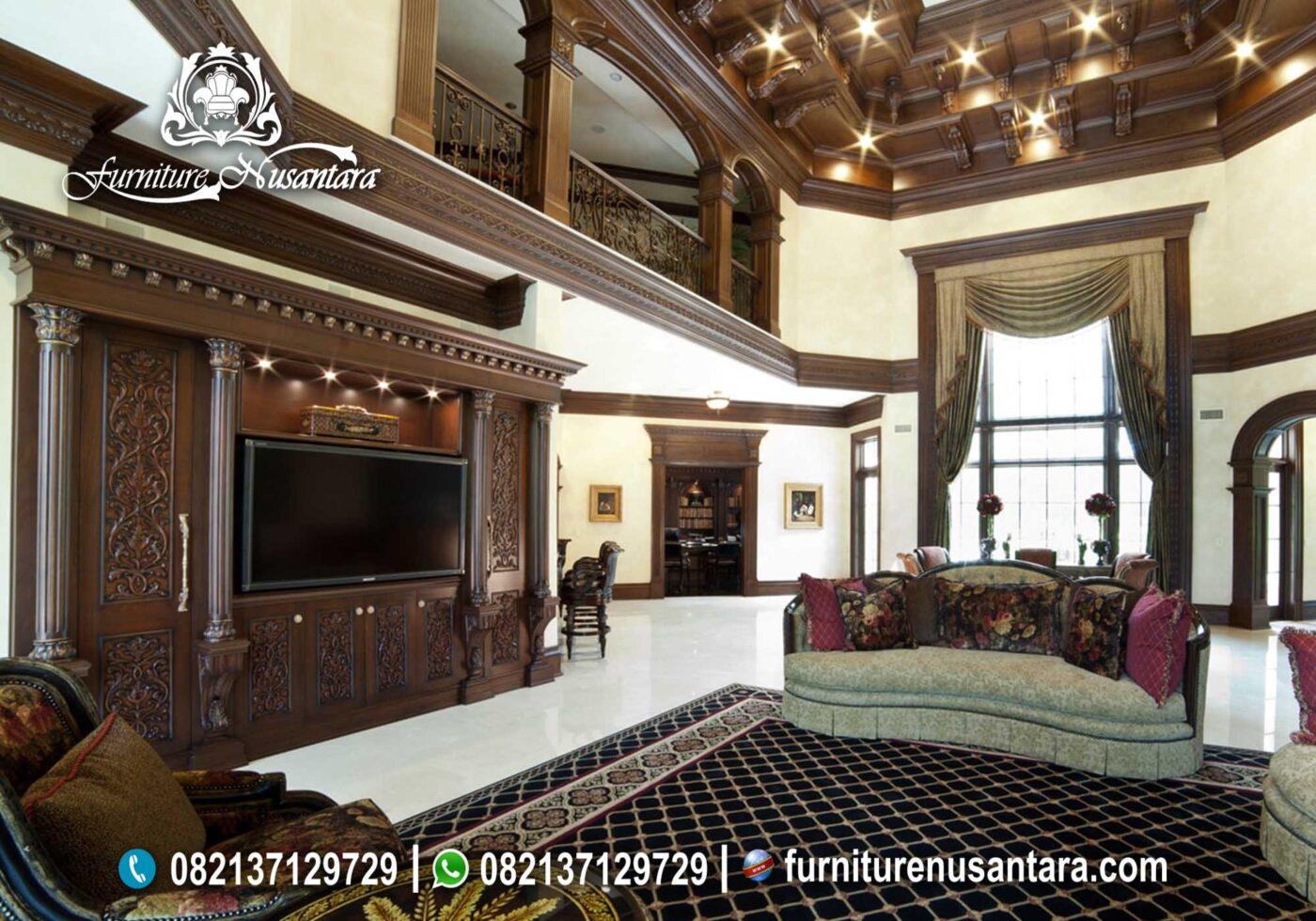 Buffet TV Klasik Kayu Jati Hara Terbaik BTV-30, Furniture Nusantara