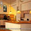 Desain Kitchen Set Kombinasi Warna Putih Natural Terbaik KC-24