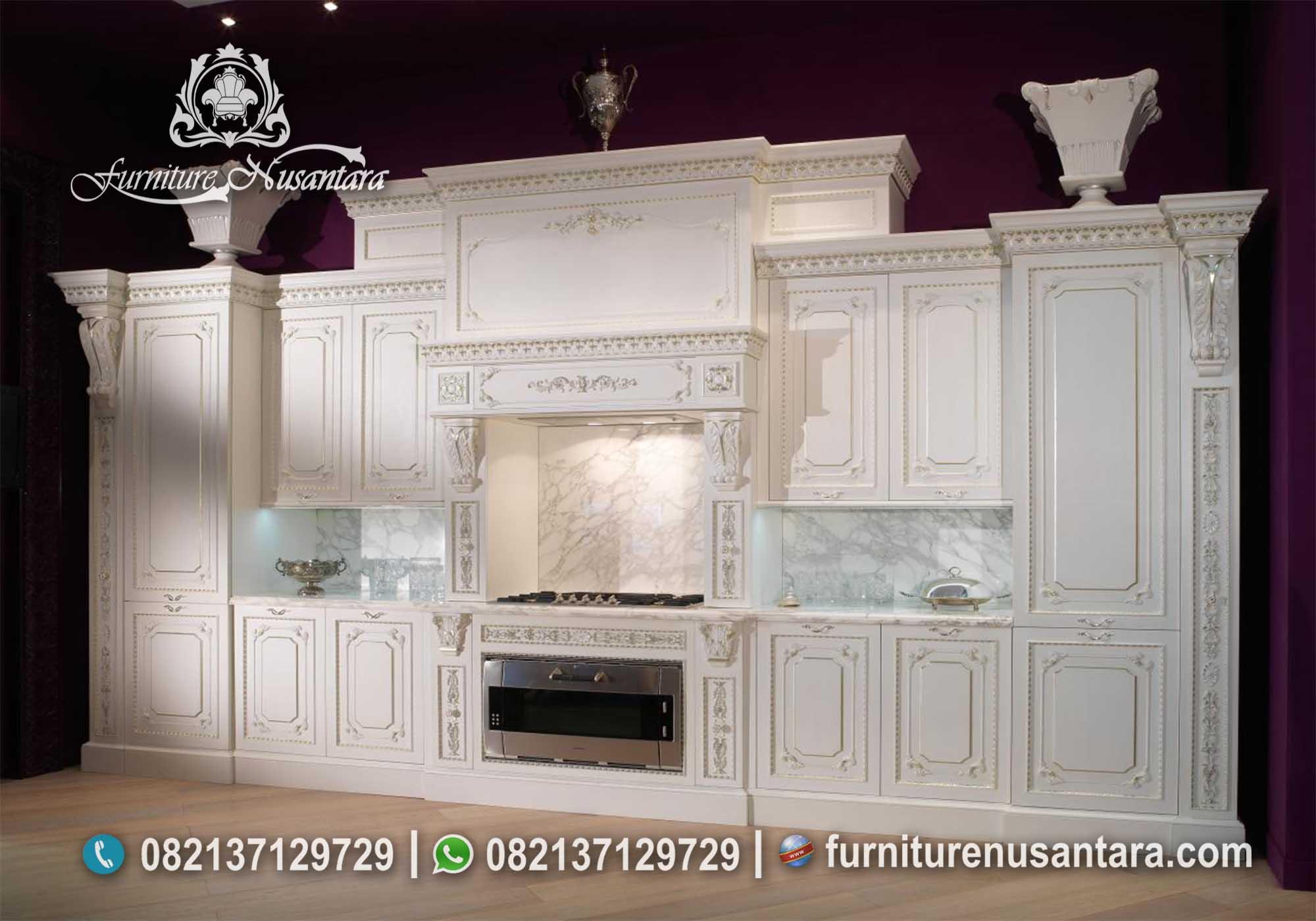 Jual Kitchen Set Warna Putih Klasik KC-03