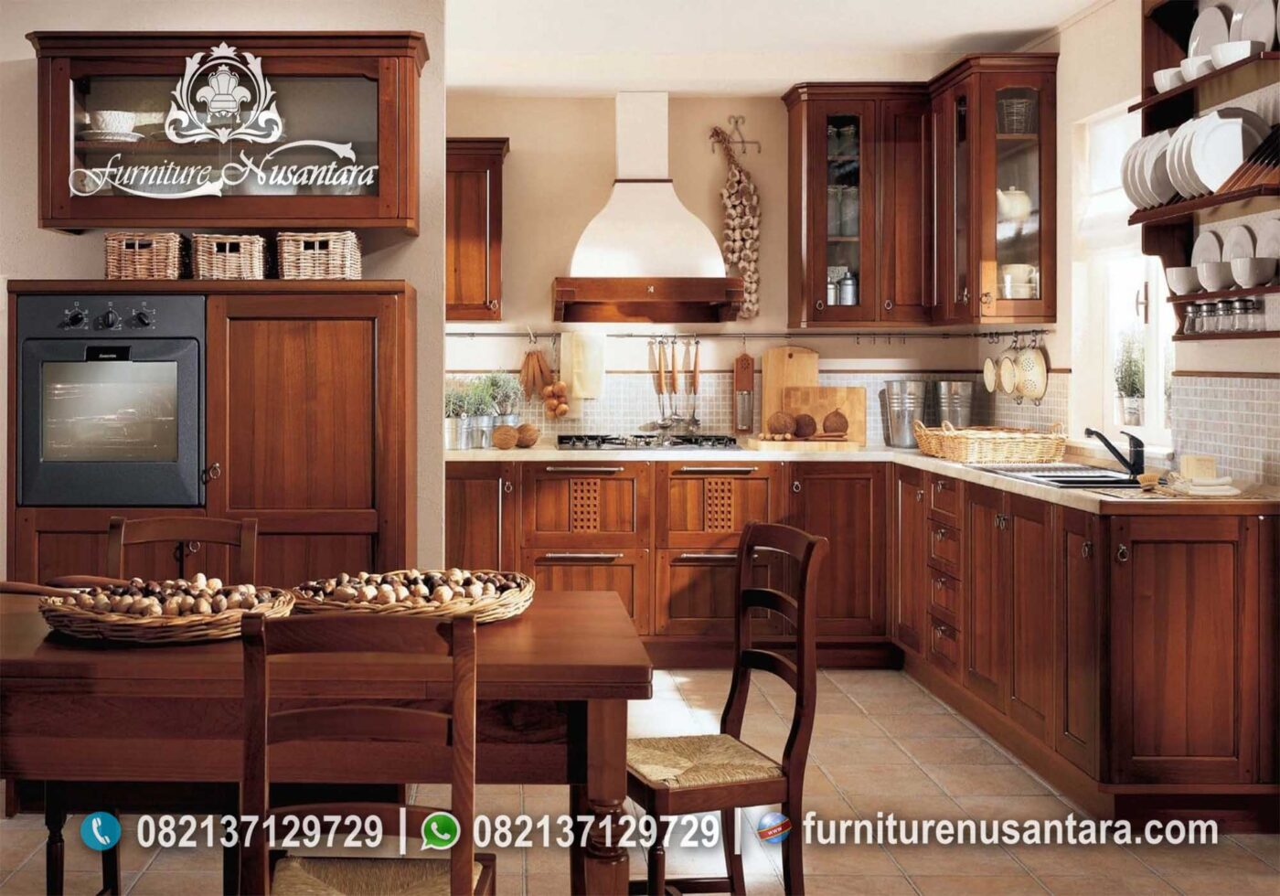 Set Dapur Modern Kayu Jati Natural Murah KC-35