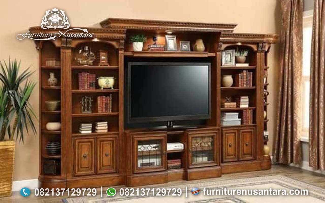 Buffet TV Minimalis Natural Sederhana Jati Perhutani BTV-34, Furniture Nusantara