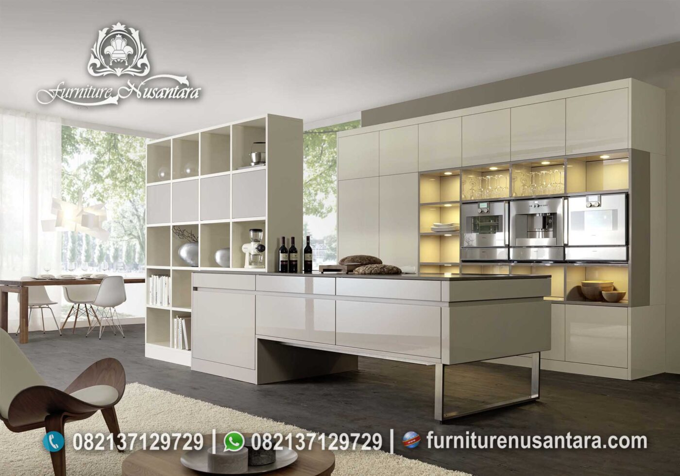 Kitchen Set Warna Putih Minimalis Catik KC-36