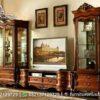 Meja TV Lemari Pajangan Klasik Kayu Jati BTV-36, Furniture Nusantara