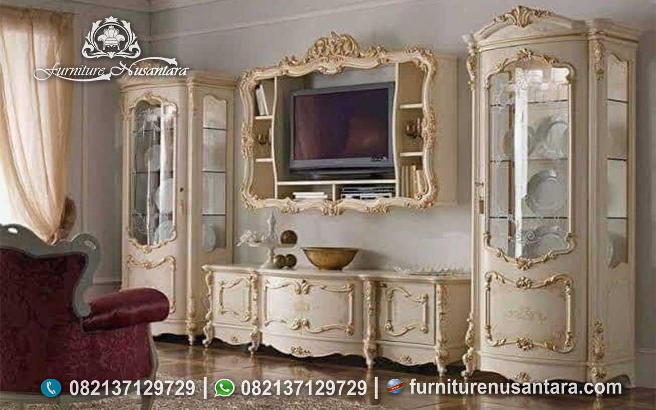 Jual Buffet TV Mewah Ukir Jepara BTV-38, Furniture Nusantara