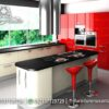 Desain Kitchen Set Duco Gloss Merah KC-40