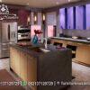 Desain Dapur Modern Warna Coklat Soft KC-45