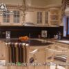 Desain Kitchen Set Custom Klasik Ukir Jepara KC-06