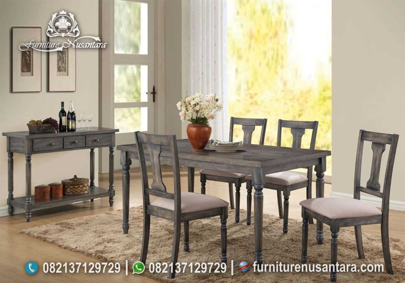 Jual Set Meja Makan Rustic Model MM-52