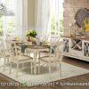 Set Meja Makan Minimalis Laura Duco Putih MM-71