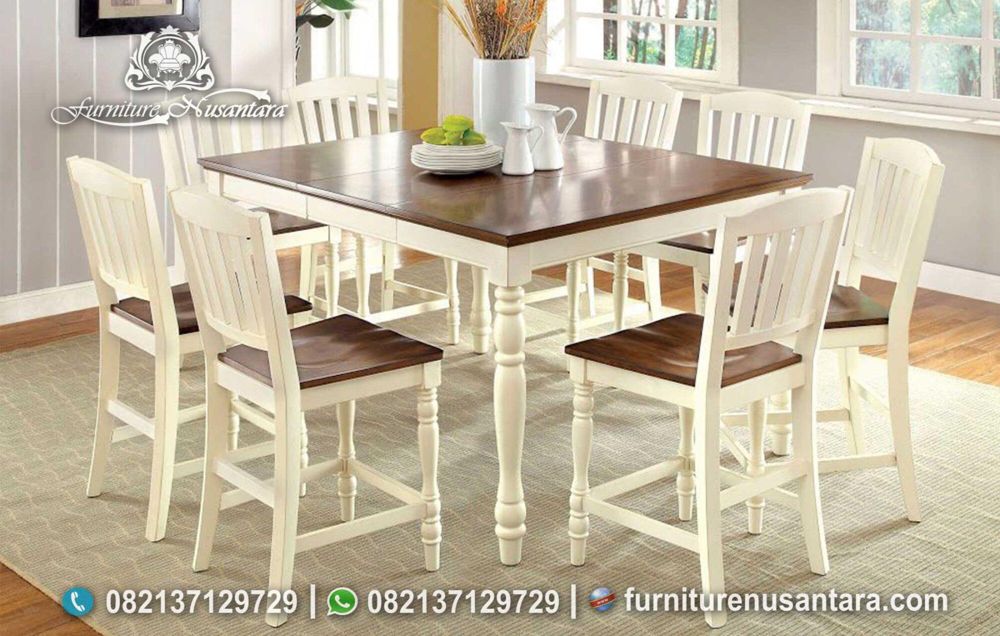 Meja Makan Minimalis Modern Elegan MM-125, Furniture Nusantara