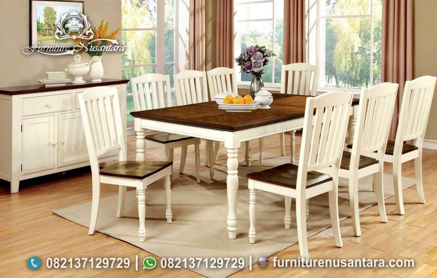 Jual Meja Makan Minimalis 8 Kursi MM-126, Furniture Nusantara